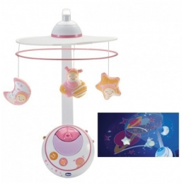 KARUSELĖ CHICCO MAGIC STARS COT MOBILE– PINK
